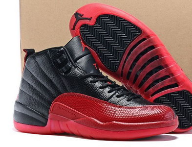 "Air Jordan 12 ""Flu Game"" Shoes Black/Varsity Red"